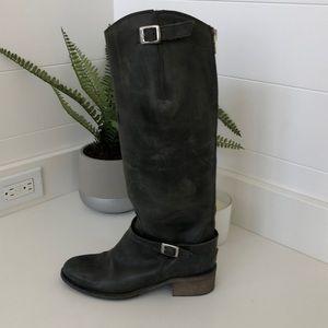 Charles David distressed riding boot